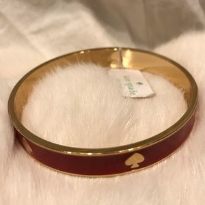 Kate Spade Bacchus Red Gold Plate Bangle Bracelet